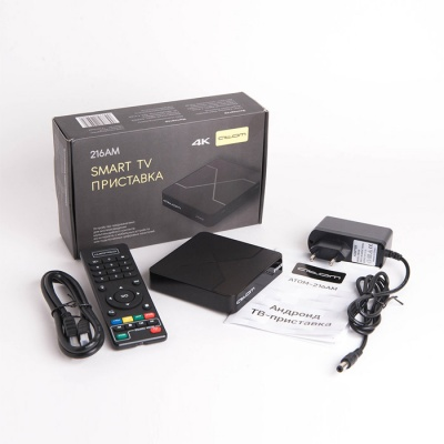 Приставка Смарт ТВ - АТОМ-216АМ (Android TV Box)